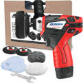 "ACDelco G12 Series 12V Cordless 3"" Mini Polisher Tool Set with 2 Li-ion Batteries, Charger, and Accessory Kit, ARS1212"
