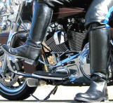 Police Style Motorcycle Boots